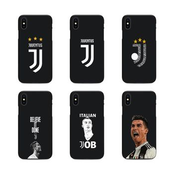cristiano ronaldo juventus jersey CR7 soft Silicone black cover phone case for iPhone X 6 7 8 plus 5 5s 6s se best Housing