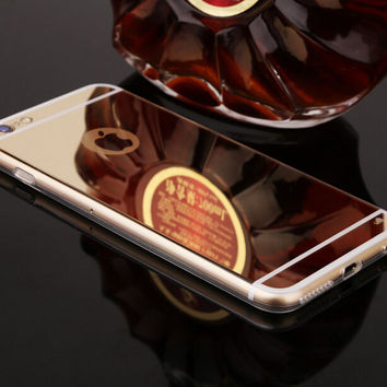 Cosmetic Mirror Protect Case Cover for iPhone