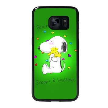 PEANUTS SNOOPY AND WOODSTOCK Samsung Galaxy S7 Edge Case