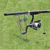 Double Spring Fishing Pole Stand Holder