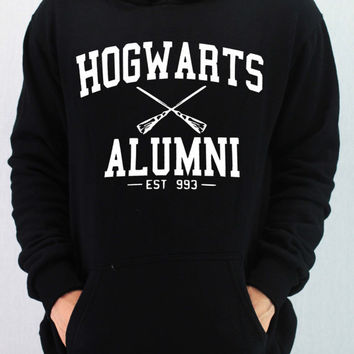 HOGWARTS ALUMNI Shirt Harry Potter Shirt Hoodie Sweatshirt Sweater Unisex - silk screen handmade