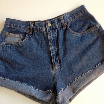 "High Waisted ""Bill Blass"" Jean Denim Shorts 31"" Waist"