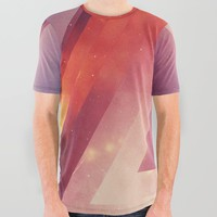 Triangled Too All Over Graphic Tee by duckyb