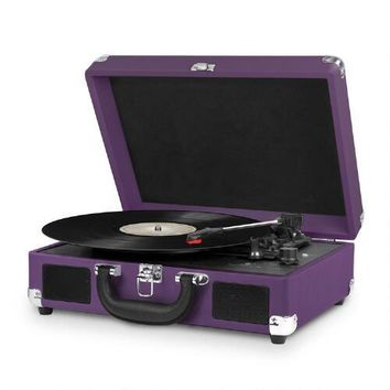 3-Speed Portable Vintage Turntable Suitcase | Christmas Tree Shops andThat!