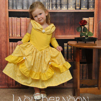 My Fairy Tale: Belle Dress from Disney's Beauty and the Beast - Sizes 2T, 3T, 4T, 5, 6, 7, 8 and 10