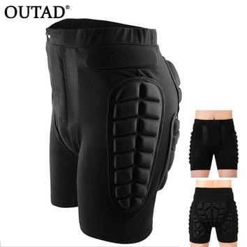 OUTAD Protective Snowboard Shorts Hip Protective Bottom Padded For Ski & Roller Skate & Snowboard Hip Protection Pad Sport Gear
