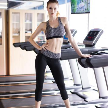 2018 New Girl clothes Fitness Women Yoga Set Workout Sport Suit Female Gym Clothes Pants Running Tights Sport Bra Suit