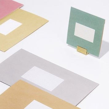 Simple pastel folded card set