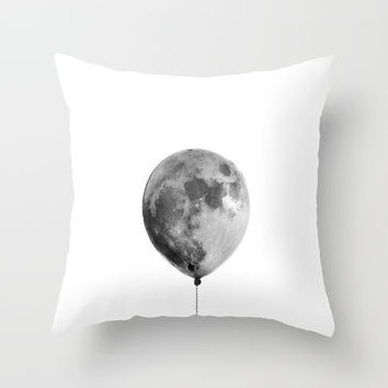 The light side of the moon Throw Pillow by printapix
