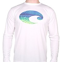 Performance Dorado Long Sleeve T-Shirt in White by Costa Del Mar