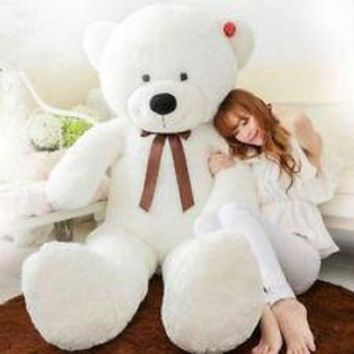 47'giant Huge Big Stuffed Animal White Teddy Bear Plush Soft Toy 120cm