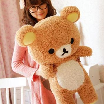 Christmas Gift San-x Rilakkuma Relax Bear Cute 55cm Soft Pillow Plush Toy Doll