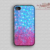 Sparkle&Glitter iPhone 4 Case, iPhone 4s Case, iPhone 4 Hard Plastic Case, Personalized iPhone Case--water proof
