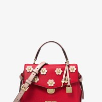 Bristol Floral Appliqué Leather Crossbody | Michael Kors