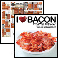 I HEART BACON 2014 WALL CALENDAR