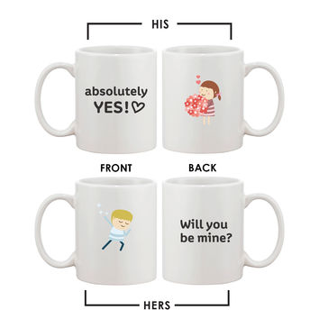 Cute Propose Designed Couple Mugs Best Gift idea for Wedding and Engagement