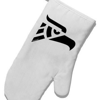 Hecho en Mexico Eagle Symbol White Printed Fabric Oven Mitt by TooLoud
