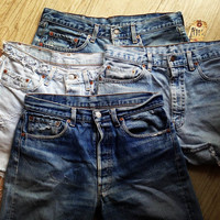 PLUS SIZE high waisted Custom Made Vintage Levi Shorts Denim Jean Shorts Hipster tumblr shredded xxl xxxl