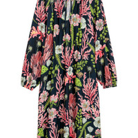 V-neck dress - Black/Floral - Ladies | H&M GB