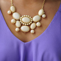 The Finishing Touch Necklace: Ivory | Hope's