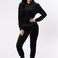 The OG Hoodie Track Suit Set - Black