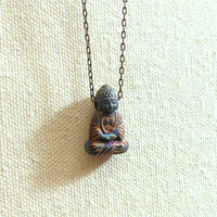 Unearthed buddha necklace spiritual buddhism yoga jewelry
