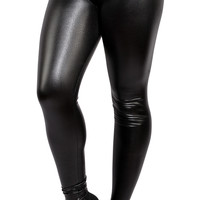 Black Wet Look Leggings Design 246
