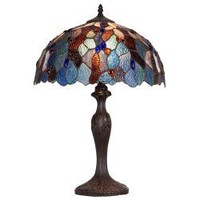 Aztec Lighting Bronze Tiffany-style 1-light Table Lamp | Overstock.com