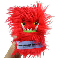 Worry-Woolie childrens Notebook- red monster