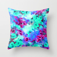 Flourish 3 Throw Pillow by Jacqueline Maldonado | Society6