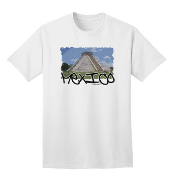 Mexico - Mayan Temple Cut-out Adult T-Shirt