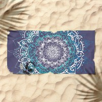 Boheme Mandala Beach Towel by rskinner1122