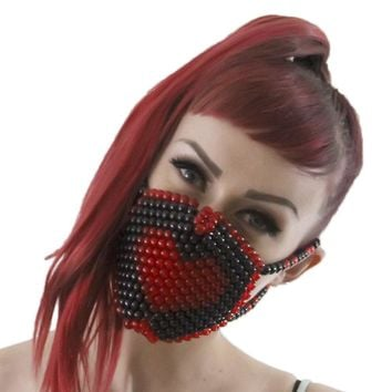 Red Heart Kandi Mask