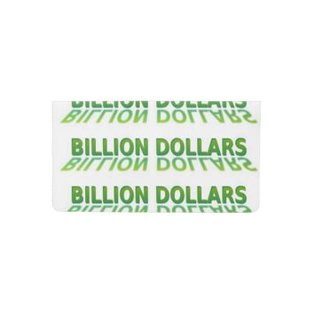 BILLION DOLLARS Checkbook Cover