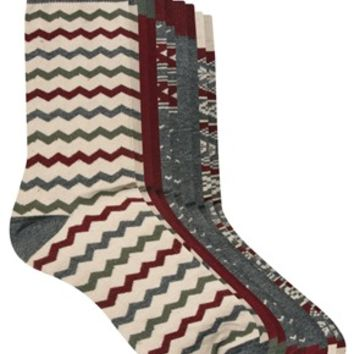 Urban Eccentric 5 Pack Mixed Print Socks