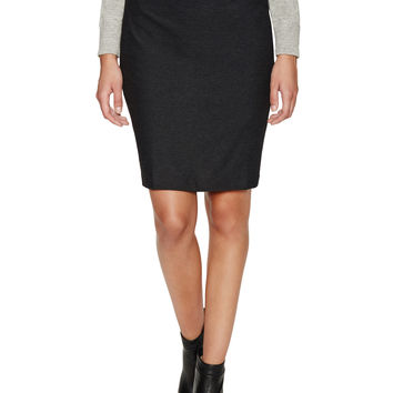 Eileen Fisher Women's Stretch Pencil Skirt - Dark Grey -