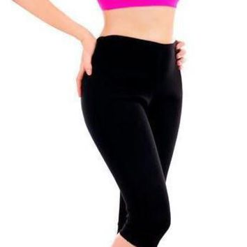 Fat Burning Fitness Body Girly Stretch Yoga Exercise Vest Hot Slimming Thermo Pants