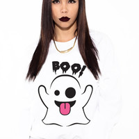 Ghost Emoji Halloween Sweatshirt