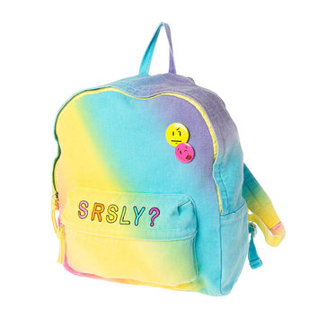 Srsly Rainbow Emoji Backpack