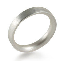 Sterling Silver Band Comfort Fit Hand Forged Wedding Jewellery