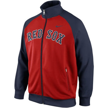 Nike Boston Red Sox 2014 Full Zip Track Jacket - Red/Navy Blue