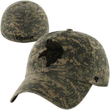47 Brand Minnesota Vikings Officer Franchise Fitted Hat - Camo
