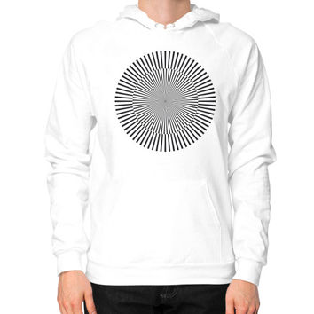 Circle with kinetic art Hoodie (on man)