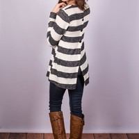 Button Back Striped Tops ~ Quick Ship!