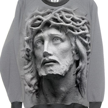 Jesus Carved In Stone Sweatshirt