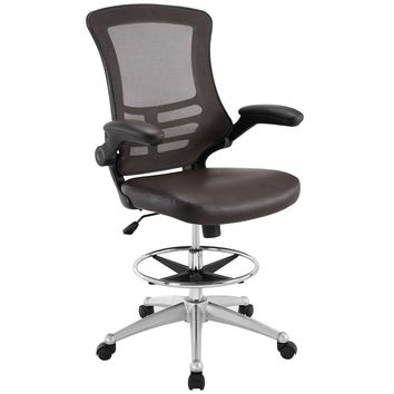 Attainment Faux Leather Drafting Chair