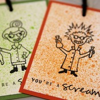 Halloween Mad Scientist Party Favor Tags and Candy Gift Tags