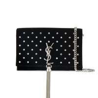 Saint Laurent Kate Diamante Chain And Tassel Wallet - Farfetch