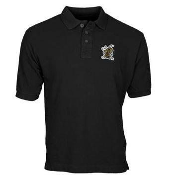 West Virginia State Yellow Jackets Team Mark Polo - Black