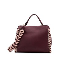 Burgundy Vegan Leather Bag by Melie Bianco